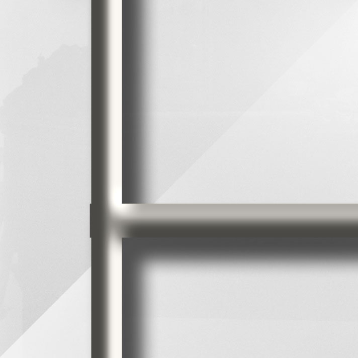 MatièreVerre Lys Blanc - Barres métal du modèle CAMPASTYLE HOLIDAY 3.0