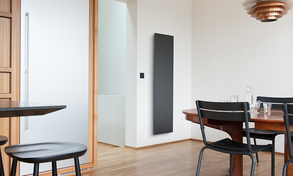 radiateur electrique design vertical simple radiateur electrique nirvana digital atlantic. Black Bedroom Furniture Sets. Home Design Ideas